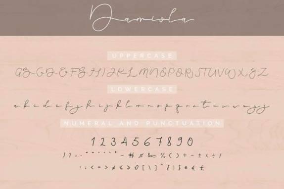 Damiola Handwritten font free