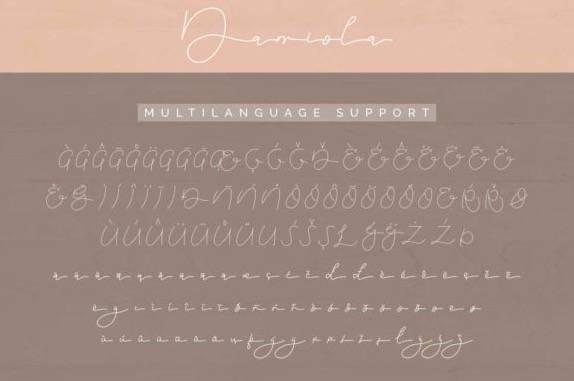 Damiola Handwritten font download