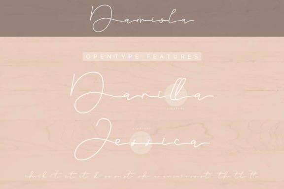 free Damiola Handwritten font