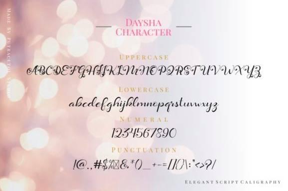 Daysha Calligraphy Font download free