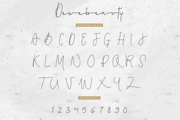 Dewebeauty Handwritten Font download