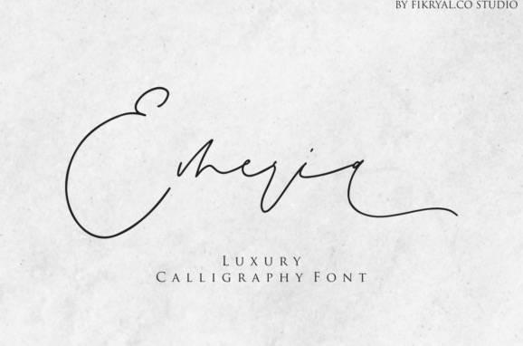 Emeria Modern Calligraphy Font