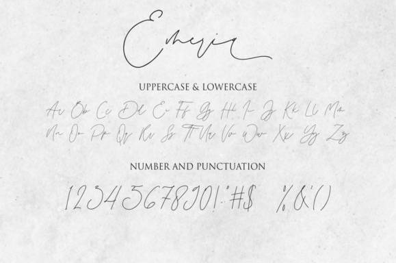 Emeria Calligraphy Font