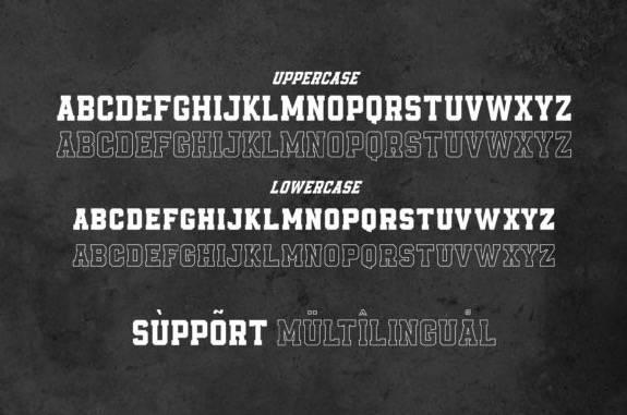 Empirez Slab Serif Font free
