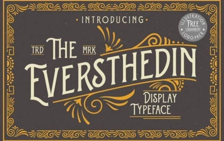 Eversthedin Display Font download