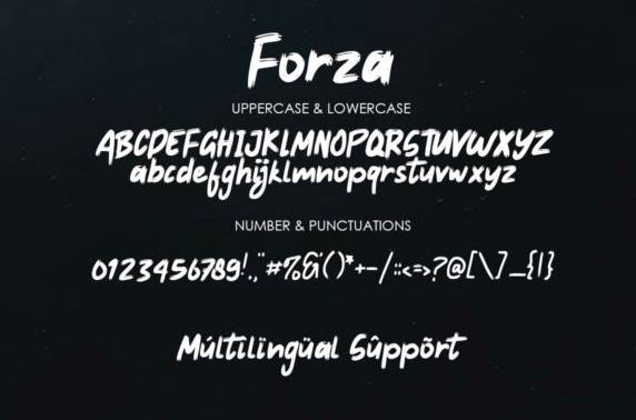 download Forza Brush Font