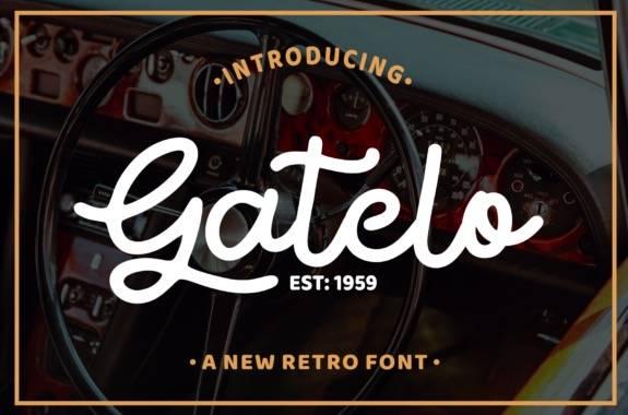 Gatelo Handwritten Font