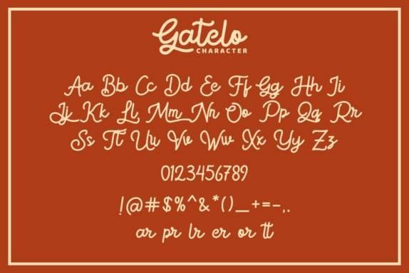 Gatelo Handwritten Font download