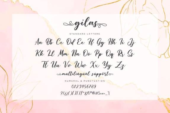 Gilas Calligraphy Font free