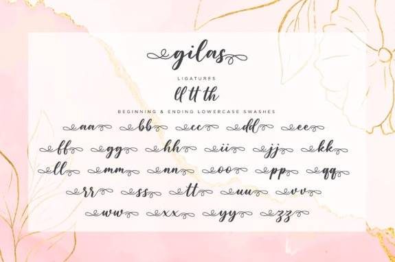 Gilas Calligraphy Font download