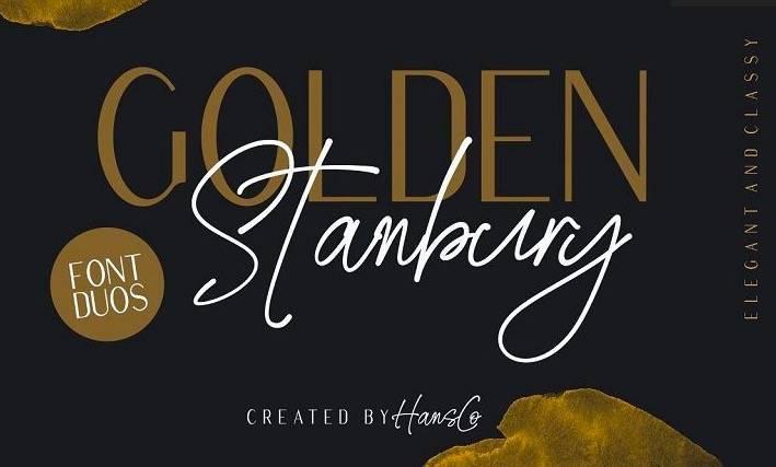 Golden Stanbury Font Duo download
