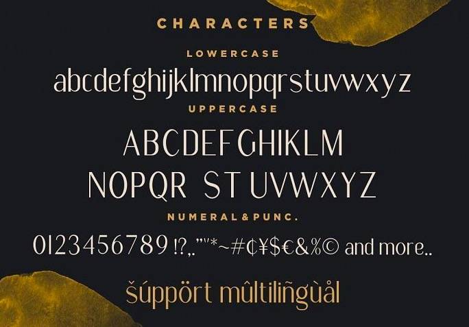 Golden Stanbury Font Duo