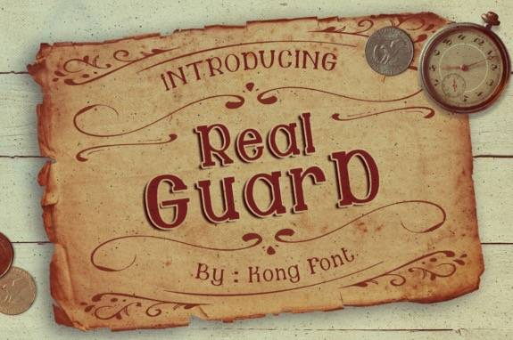 Guard Retro Serif Font