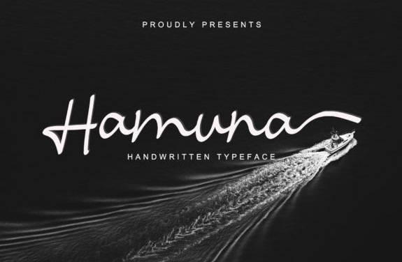 Hamuna Handwritten Font