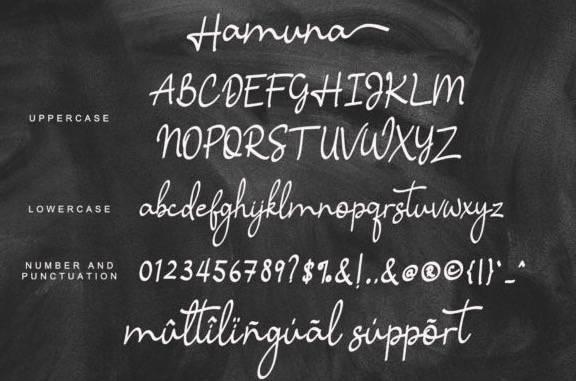 Hamuna Handwritten Font download