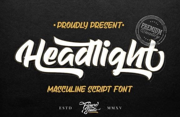 Headlight Brush Font free