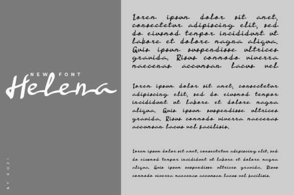 Helena Handwritten Font free