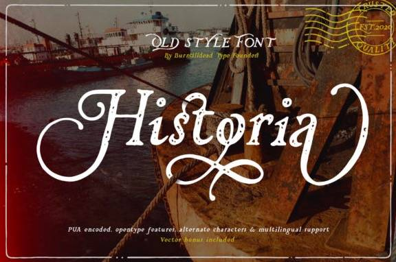 Historia Modern Serif Font