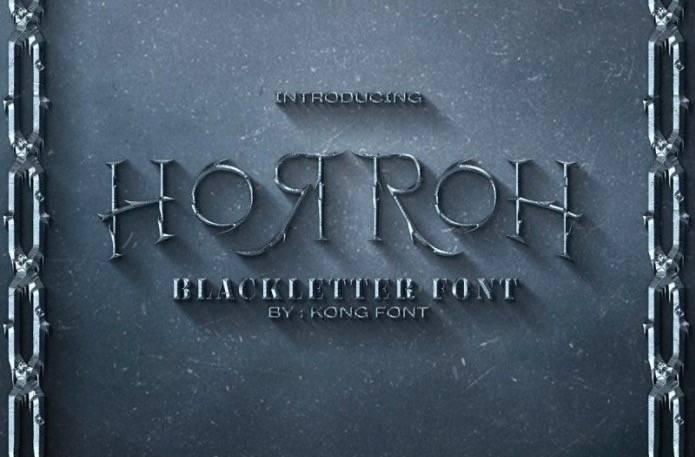 Horroh Blackletter Font