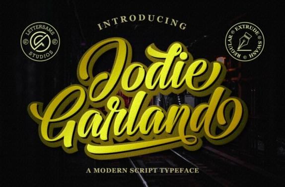 Jodie Garland Modern Script Font