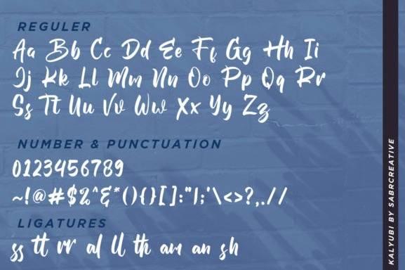 download Kalyubi Calligraphy Font