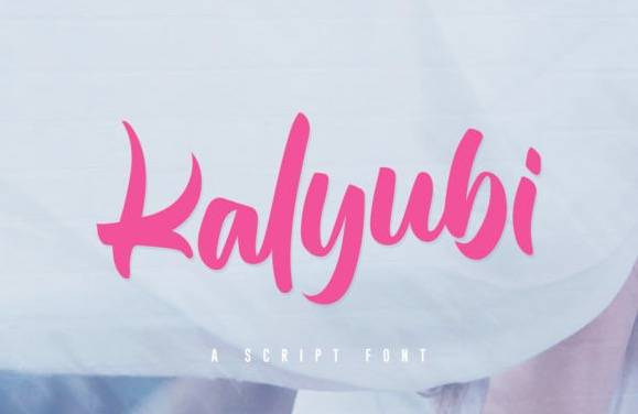 Kalyubi Calligraphy Font