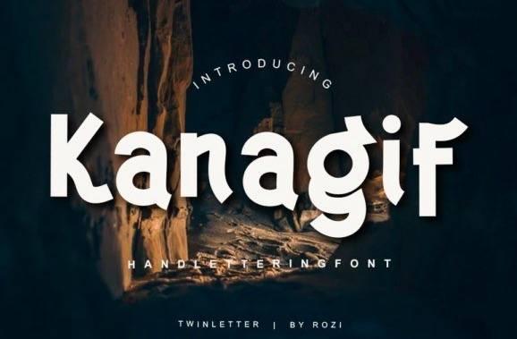 Kanagif Sans Serif Font