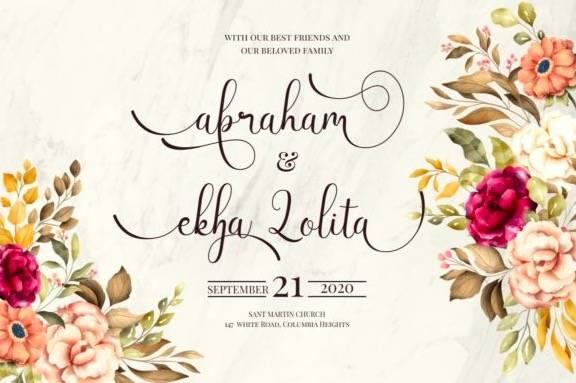 Latisha Calligraphy Font free
