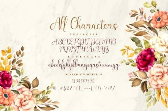 download Latisha Calligraphy Font