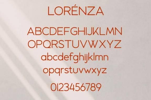 Lorenza Sans Serif Font free