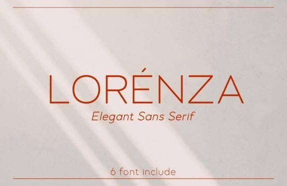 Lorenza Elegant Sans Serif Font