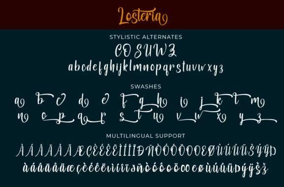 download Losteria Script Brush Font