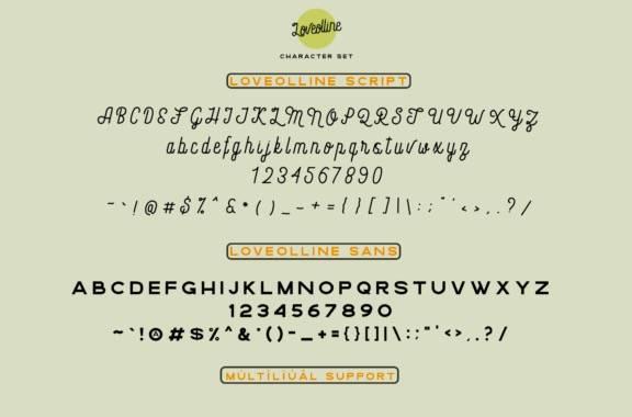 Loveolline Font Duo free