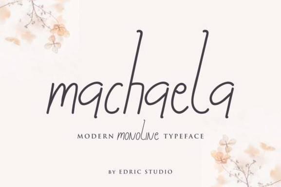 Machaela Monoline Font
