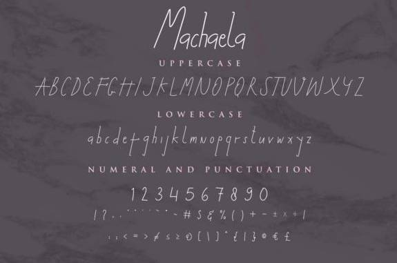 Machaela Monoline Font download