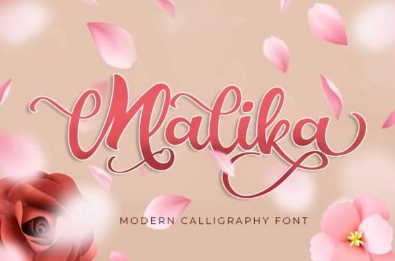Malika Luxury Calligraphy Font