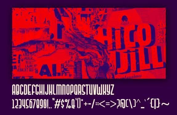 free Mandan display Font