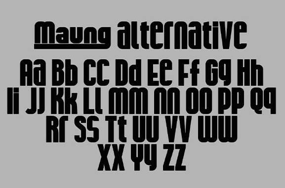 Maung Display Font download