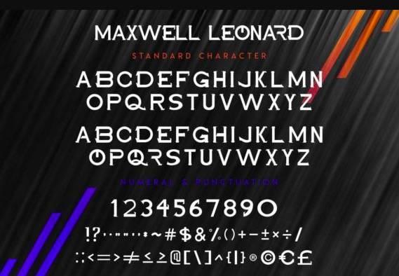 Maxwell Leonard Serif Font download