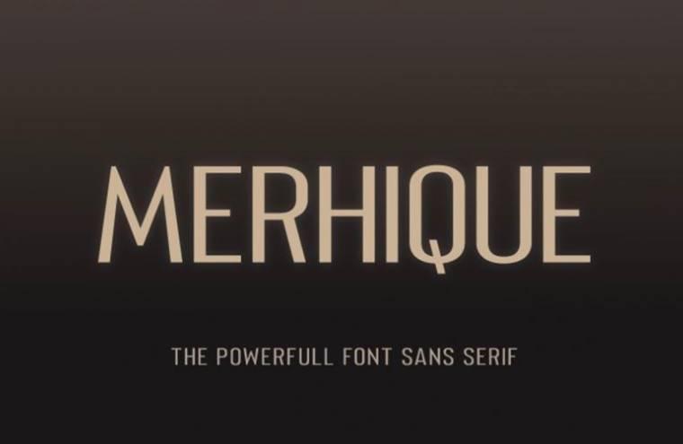 Merhique Sans Serif Font