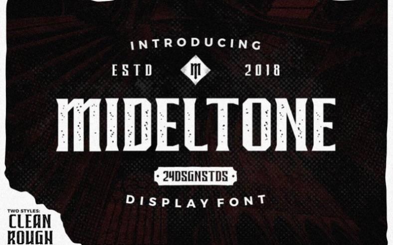 Mideltone font download