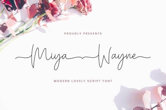 download Miya Wayne Handwritten Font