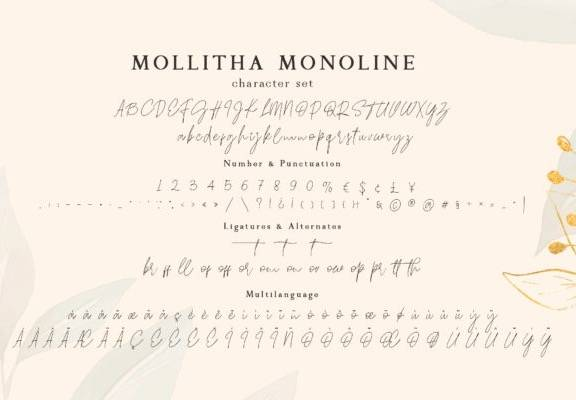 download Mollitha Calligraphy Font