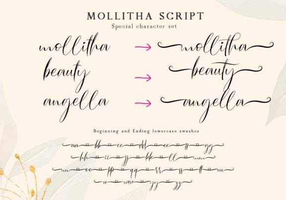 free Mollitha Calligraphy Font download