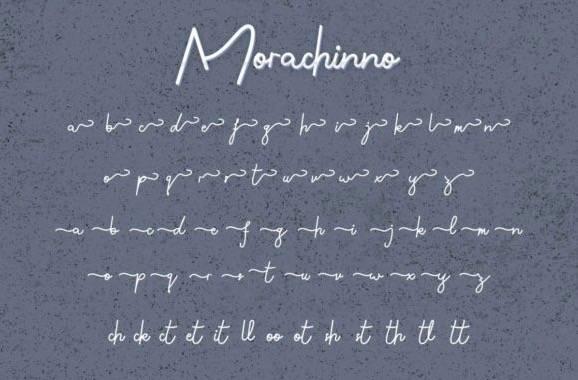 Morachinno Signature Font download