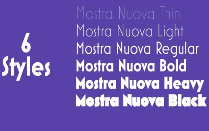 Mostra Nuova Font free download