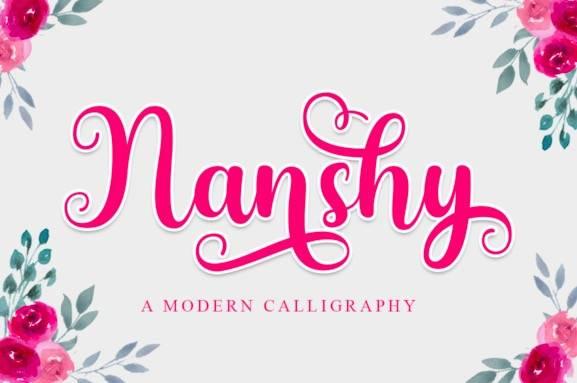 Nanshy Calligraphy Font