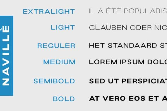 Navillè Sans Serif Font free