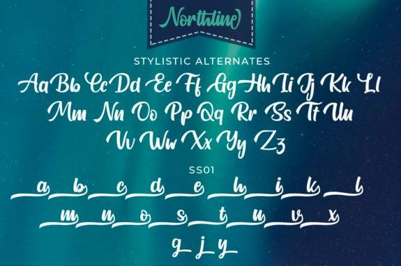 free Northline Handwritten Font download