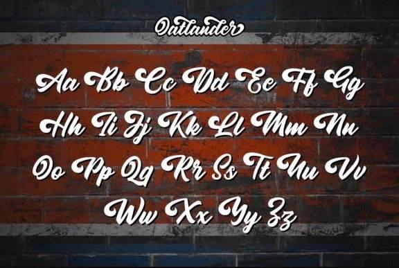 download Oatlander Calligraphy Font